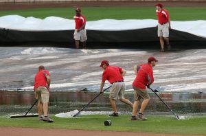 Rainy days  and nights at Busch Stadium
