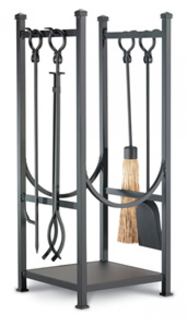 High & low Fireplace tools with log rack Lifestyles