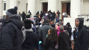 Raw Video: Protesters gather at Old Court House