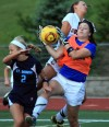 Thomas scores both goals as Summit hands St. Dominic its first loss