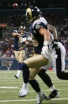 The St. Louis Rams played the Baltimore Ravens in a preseason football game at the Edward Jones Dome in St. Louis, Mo.