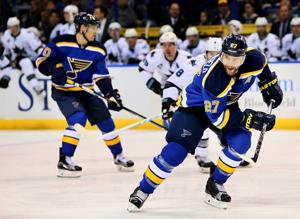 Pietrangelo misses practice after injury