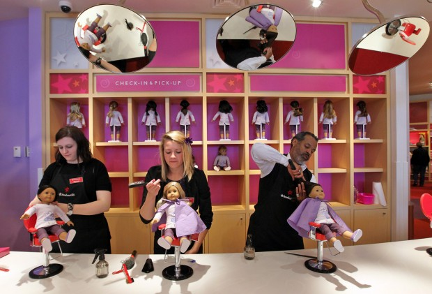 At american girl crowds see more than a store business for 8 the salon southpark charlotte nc