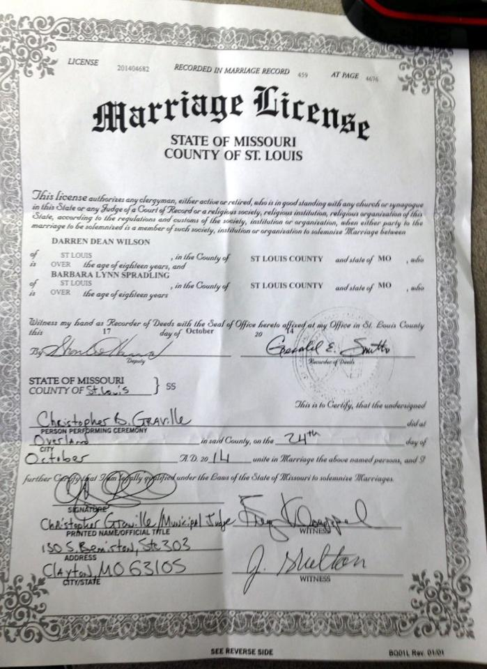Darren Wilson Has Married His Girlfriend News
