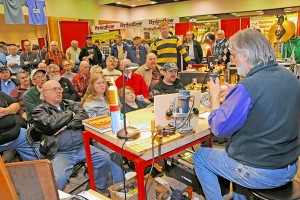 Huge crowd enjoys seeing the sawing at St. Louis Woodworking Show