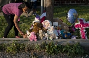 A vigil in East St. Louis for toddler accidentally killed