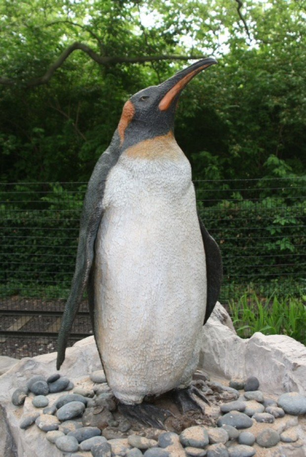 A.J. Obara penguin sculpture