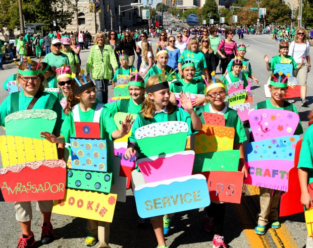 Girl scouts have a big day 100th anniversary celebration downtown