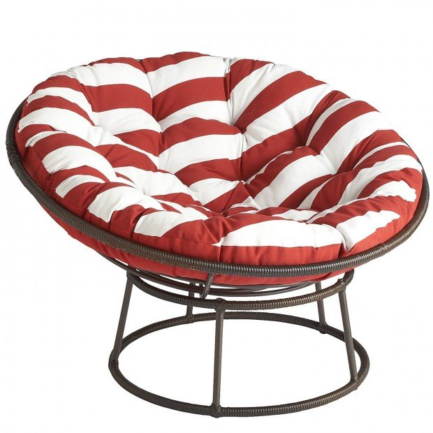 papasan outdoor chair at pier 1 imports red and white cushion sold separately. Black Bedroom Furniture Sets. Home Design Ideas
