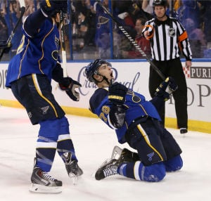Photos: Blues take Game 1 in 3OT