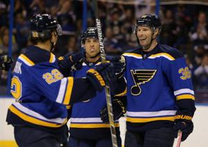 Blues move closer to setting lines for opening night