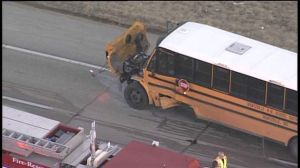 Video: Fatal motorcycle accident with school bus
