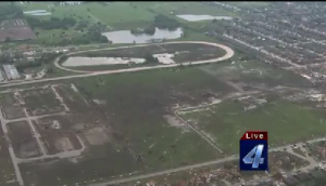 Raw Video: Aerial view of Moore, Oklahoma storm path