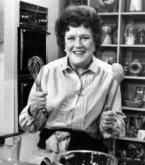 Julia Child gets a shock in a trip to the future