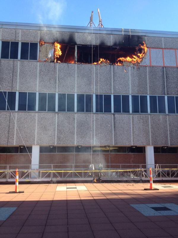 Fire at Macelwane Hall at St. Louis University