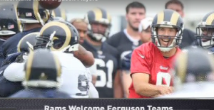 Jim Thomas video: Rams host Ferguson players