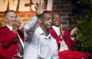 No sun, no problem: Willie McGee is in camp