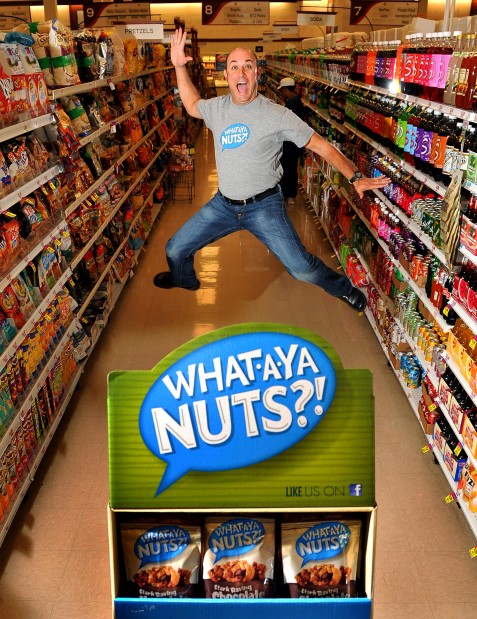 Howie Sher of What-A-Ya Nuts?! in grocery aisle
