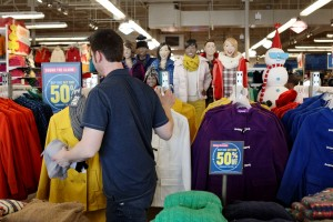 50 percent off the entire store at Old Navy beginning at 4 p.m. Thanksgiving Day