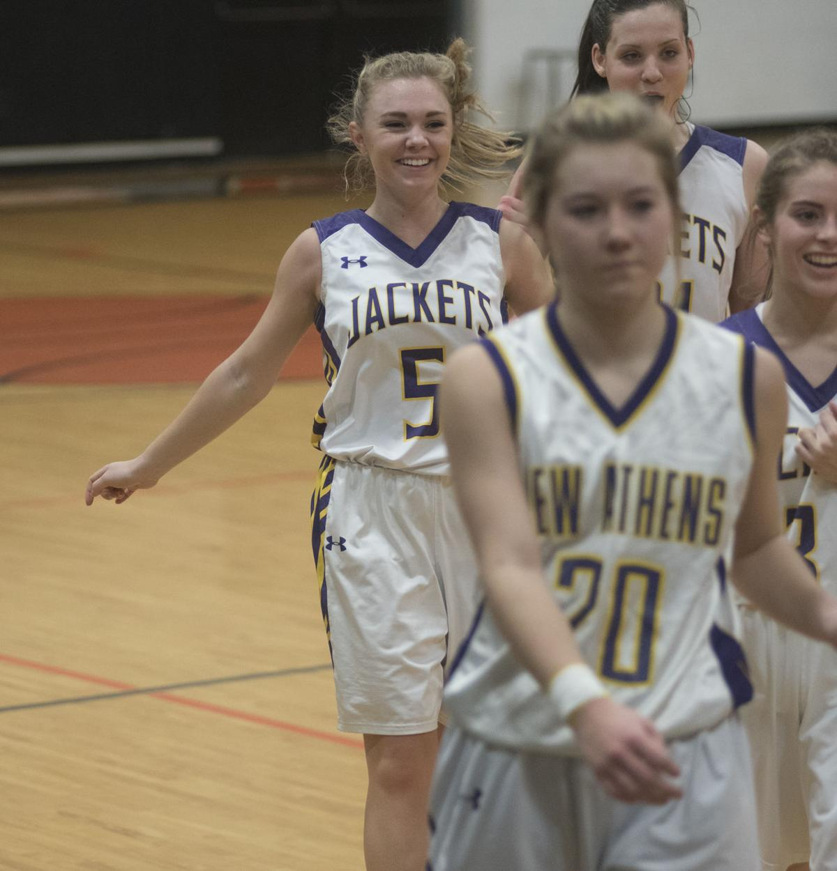 """steeleville girls Steeleville's allanah renner is surrounded by hardin steeleville's run ends against hardin-calhoun """"our group of girls they come focused every night."""