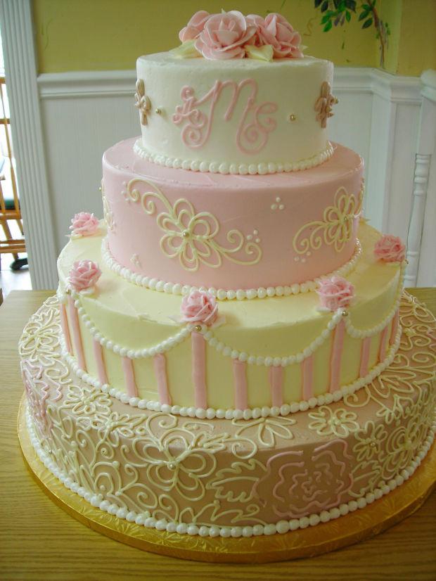 wedding cake pink