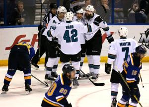 Blues' scoring woes continue in 3-1 loss to Sharks