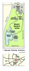 Missouri Botanical Garden trail map