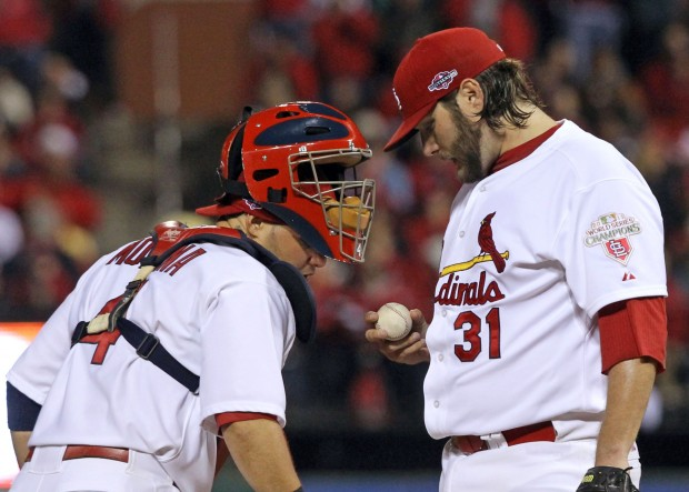 The St. Louis Cardinals vs. the San Francisco Giants Game 5 of the NLCS