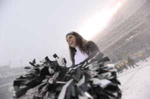 NFL cheerleaders: The blizzard edition