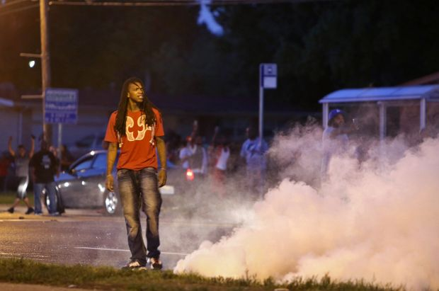 Tear gas Fired in Ferguson