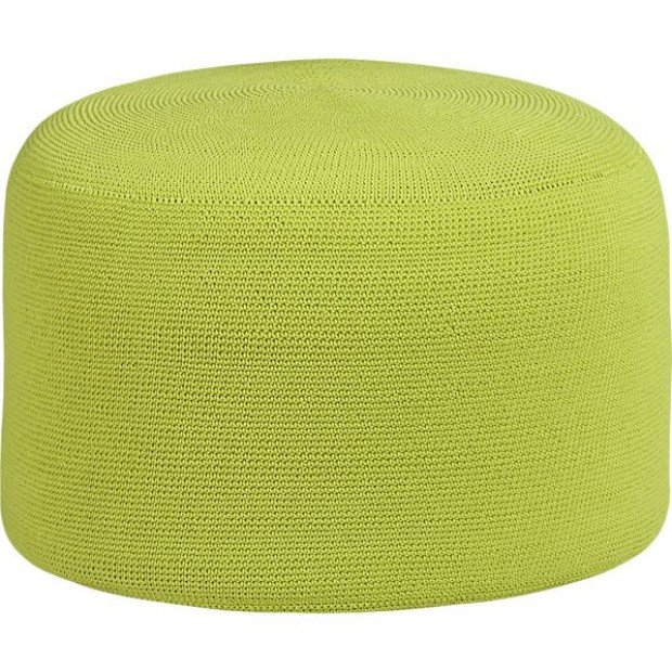 Product pick outdoor pouf lifestyles for Crate and barrel pouf