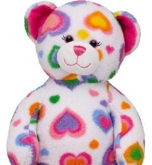 The Colorful Hearts Teddy Bear has been recalled by Build-A-Bear Workshop
