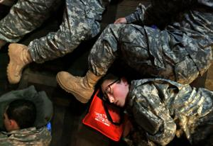 Gallery: Battalions storm Lambert-St. Louis Airport...to get home