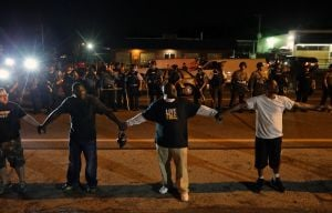Video: A night of peace turns chaotic in Ferguson