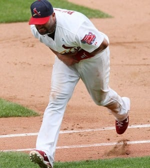 Pujols out June 21, 2011
