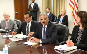 Holder visits with students, community leaders, Michael Brown's family in Ferguson