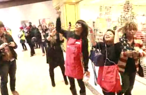 Video: Protesters target Black Friday at Galleria