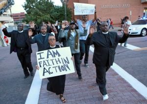 Video: Clergy take demands to McCulloch