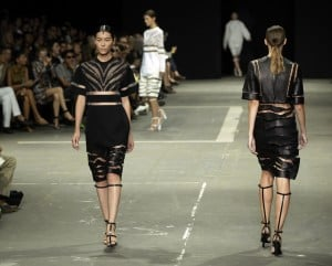 Spring 2013 plays with creative prints and dominatrix gear