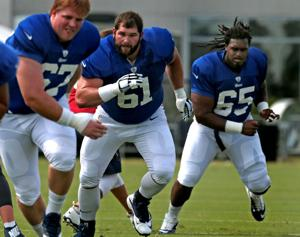 Offensive line battle is Rams' center of attention in camp