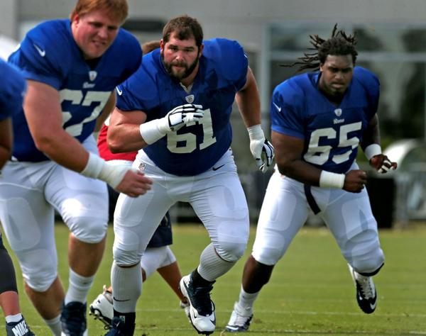Three-way battle for starting center in Rams camp