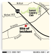 Map: Site of bicycle incident