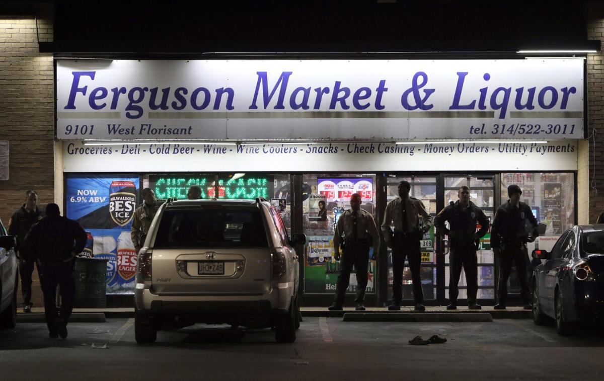 Arrest at Ferguson Market