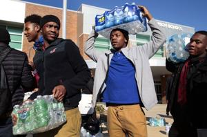 East St. Louis High sends more than 15,000 bottles of water to Flint