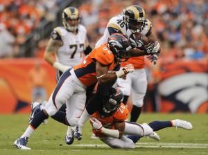 Updated: Rams lose TE Harkey with leg injury