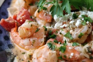 Yarithes Saganaki  (Shrimp with Feta Cheese)