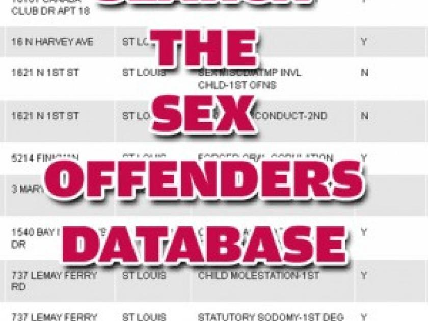 k b i registerd sex offenders