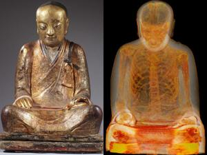 Buddha statue reveals remains of mummified monk inside