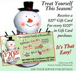Give and get. The best gift card freebies