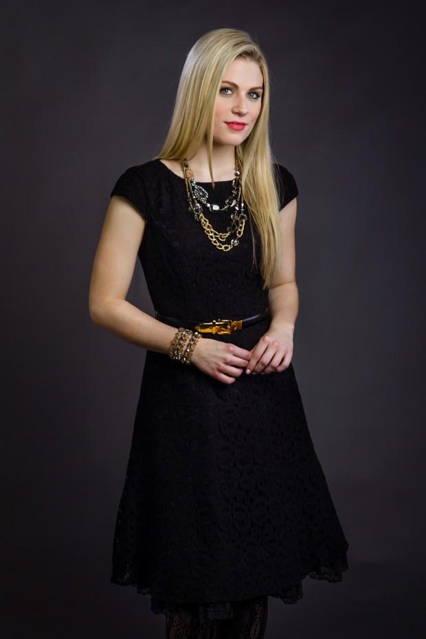 Justine Ward Models Holiday Fashion News